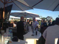 The outdoor bar at Social Media Week LA 2014