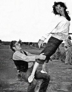 GIANT (1956) - James Dean & Valley Keene (Liz Taylor's double) - Directed by George Stevens - Warner Bros.