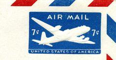 File:1958 US Airmail Stamped Envelope Indicium - 7cents.jpg ...
