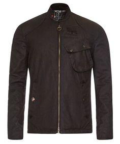 Barbour Steve McQueen Bonner Waxed Jacket - Black