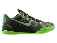 quality design 69eab 70b31 Chaussures Nike iD Baskets Pas Cher Pour Homme Nike Kobe 9 IX Low EM  Premium iD Gorge Vert Metallic Argent-Electric Vert 652908-303