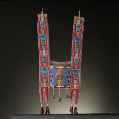Crow Beaded Hide Martingale From an Important Denver, Colorado Collector…