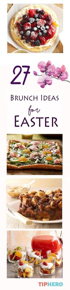 27 Brilliant Brunch Ideas for Easter | Mmmm, we love an Easter brunch, From scones to tarts to parfaits to crepes, pancakes and more, this collection of recipes have us excited to try out something new for Easter and beyond. Click for the full list of ideas.  #holidayrecipes #brunchideas