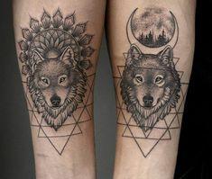 Best Wolf Tattoo Ideas - Wolf Tattoo Design Ideas With Meaning - Wolf T . - Best Wolf Tattoo Ideas – Wolf Tattoo Design Ideas With Meaning – Wolf Tattoo Paar Tattoos, Dog Tattoos, Couple Tattoos, Body Art Tattoos, Fish Tattoos, Tatoos, Cross Tattoos, Wolf Tattoo Design, Design Tattoos