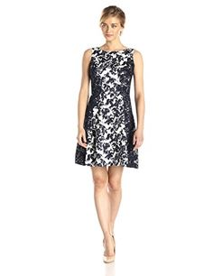 S.L. Fashions Women's Printed Lace Trip Party Dress, Navy/Cream, 16 S.L. Fashions https://www.amazon.ca/dp/B00VHVQXXO/ref=cm_sw_r_pi_dp_AVK-wb74PDE61