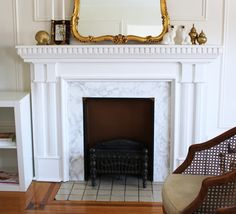 One of the things that I knew I wanted to change in my rental was the yellow tile surrounding my fireplace. I'll admit that once I mov...