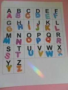 ABC sticker matching