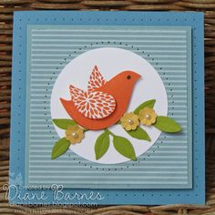 Stampin Up Betsy's Blossoms card by Di Barnes #stampinup #colourmehappy
