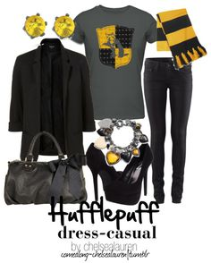 Hufflepuff - Dress Casual | Harry Potter. I'm actually a Hufflepuff.
