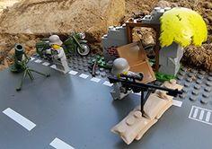 Modbrix 2143 - Deutsche Wehrmacht Scharfschützen Nest mit Lego© Wehrmacht Soldaten, Feldmotorrad, Mörser, Granaten und Häuserruine Brigamo http://www.amazon.de/dp/B00YSI7134/ref=cm_sw_r_pi_dp_8yaDvb1DY82S8