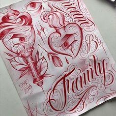 Letra E✨ #26challenge @bigmeas… Tattoo Lettering Styles, Cursive Tattoos, Chicano Lettering, Tattoo Design Drawings, Tattoo Script, Tattoo Designs, Chicano Style Tattoo, Chicano Tattoos, Armor Tattoo