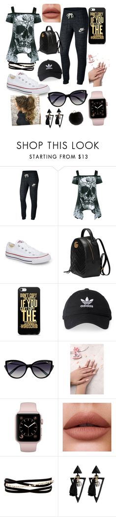 """""""swag for real girls"""" by dezaraysl-1 ❤ liked on Polyvore featuring NIKE, Converse, Gucci, adidas, La Perla, Static Nails, Kenneth Jay Lane and Yves Salomon"""