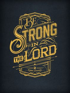 Be Strong | Typography tshirt on Behance