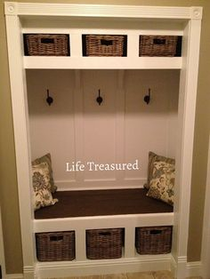 This would be perfect in the closet in the mudroom - remove the doors and this is exactly what I was thinking!