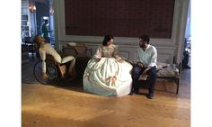 """Behind the scenes on the """"Mercy Street"""" set."""