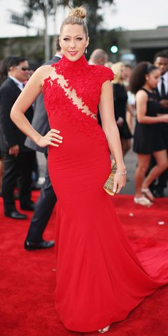 Colbie Caillat is radiant in red.