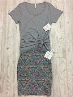 Lularoe Classic Tee & Cassie Skirt