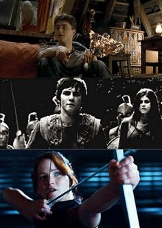 (For my Harry Potter/Percy Jackson/Hunger Games fans/followers.)  HP: Some are born great. PJ: Some achieve greatness. HG: Some have greatness thrust upon them.