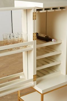 Slide View: 6: Lacquered Bar Cabinet