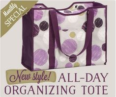 This September for every $35 you spend you can get an All-Day Organizing Tote for Only $15.