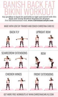 Burn your back fat and tone your triceps with this quick and easy Back Workout for Women. All you need is a set of dumbbells and 20 minutes.