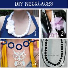12 Trendy Fashion Accessories for Girls: DIY necklaces, hair accessories, and misc. accessories