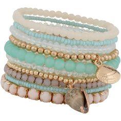 ALDO Derilian Bracelet ($15) ❤ liked on Polyvore featuring jewelry, bracelets, accessories, pulseras, pastel multi, aldo, bracelet bangle, metal bracelet, aldo jewelry and aldo bracelet