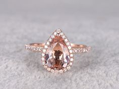 BBBGEM offers morganite ring,see our morganite engagement rings rose gold in heart,round,oval,cushion cut,princess,emerald cut,pear shape.