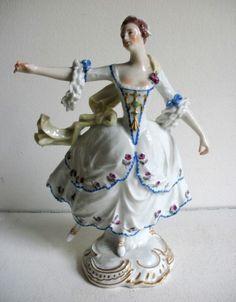 Rarität Rokoko Tänzerin  19. Jahrhundert CC-Marke