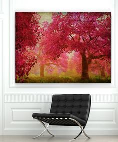 Look at this Pink Forest Wrapped Canvas on #zulily today!