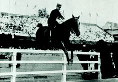 Jumping gold medallist Jean Cariou (France) on Mignon, 1912 Olympics.