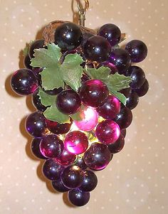 5 lighted grape cluster string lights indoor outdoor 35 lights vintage grapes lamp grandmother had one of these mozeypictures Choice Image