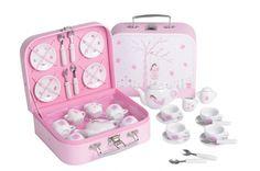 "Puppengeschirr ""Fairy Blossom"" im Koffer. Fairy Blossom 17 Piece Tea Set in Attache Case . Medium Tv Show, Fairy Tea Parties, Porcelain Dolls Value, Shops, Thing 1, Childrens Gifts, Toy Kitchen, Money Box, Toys For Girls"