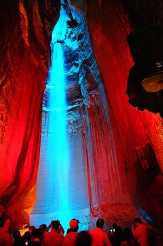 Ruby Falls, Tennessee, USA. We stopped here two years ago and didn't have time to go down into the caves to see the falls. We definitely plan to go here on our trip to Maryand this summer. Can't wait!