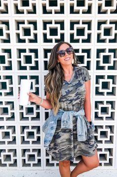 Shop Jess Lea Boutique Cassie Camo Dress  #jesslea #jessleaboutique #jessleastyle #casualstyle #momstyle #casualoutfit #easyoutfit #ootd #boutique #boutiquestyle #camostyle #camooutfit #camodress #bloggerbabes #bloggerinspo #falloutfit #falloutfit #comfystyle #comfystyle Camo Outfits, Sweater Outfits, Casual Outfits, Camo Dress, Ruffle Dress, Lace Trim Shorts, Oversized Dress, Chambray Top, Size 14 Dresses