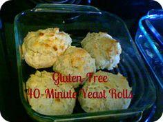 Gluten free 40 minute yeast rolls