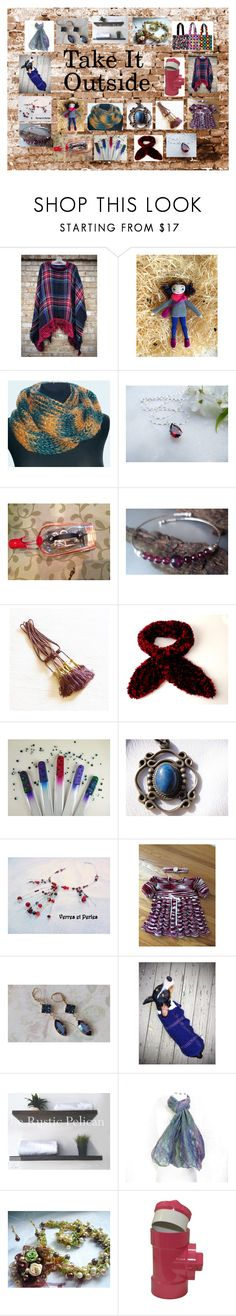 """""""Take It Outside: Vintage & Handmade on Etsy"""" by paulinemcewen on Polyvore featuring WALL, Handle, rustic and vintage"""