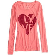 American Eagle Factory Long Sleeve Graphic T-Shirt