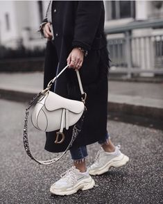 Balenciaga Coat Winter Style 2019 Dior Saddle Bag Oversize Cosy Outfit Ideas Inspo Fashion OOTD Source by jleconteberlin Bags 2019 Luxury Bags, Luxury Handbags, Fashion Handbags, Fashion Bags, Womens Fashion, Luxury Purses, Fashion Purses, Dior Handbags, Dior Bags