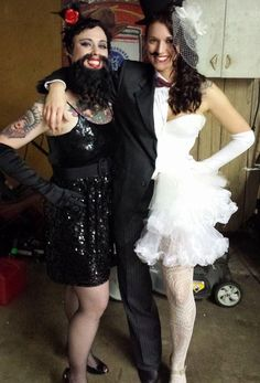 Freak Show! Our bearded lady and hermaphrodite (half-man/ half-woman) Halloween costumes!  sc 1 st  Pinterest & 163 best Freak Show Costumes images on Pinterest | Make up looks ...