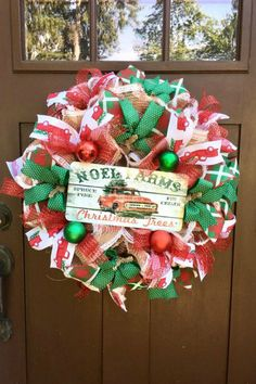 Sharing a red truck Christmas wreath created by Blue Hills Garden Crafts. It's for sale in her Etsy shop. Visit Trendy Tree online for wreath making supplies - work wreaths - mesh - ribbon - signs - florals - pick and sprays and more! Old World Christmas Ornaments, Christmas Tree Decorations, Christmas Wreaths, Xmas, Fall Decorations, Christmas Projects, Holiday Crafts, Christmas Ideas, Mesh Ribbon Wreaths
