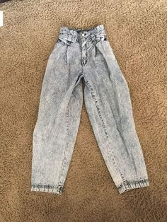 JORDACHE VINTAGE 80s ACID WASH High Waisted Mom Tapered JEANS, SIZE  11/12 #JORDACE #STRAIGHTTapered