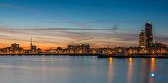 Rotterdam..Maashaven..Euromast...love the lights....L.Loe