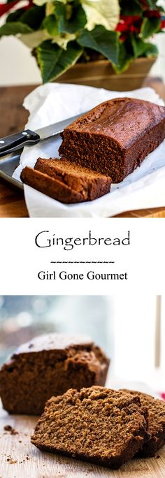 This gingerbread loaf is moist and full of holiday flavor - so simple to do, too! from www.girlgonegourmet.com