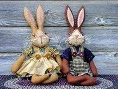 Ceci EuQfiz: Casal charmoso de coelhos com molde