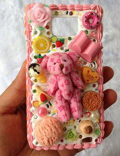 Samsung Galaxy S2 Deco cream phone case by CumaiSweetDeco on Etsy, $30.00