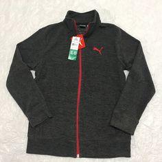 a846833bd Puma Boys Fleece Jacket Full Zip Pockets Zipper Heather Gray XL 16  PUMA   FleeceJacket  Everyday