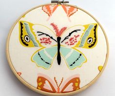 """Butterfly Hoop Art
