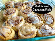 No Yeast Cinnamon Rolls, Healthy Cinnamon Rolls, No Yeast Bread, Cinnamon Bread, Cinnamon Cream Cheeses, Nutritious Snacks, Healthy Meals, Pastry Blender, Rolls Recipe