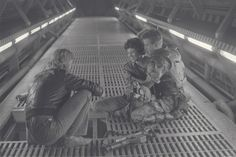 James Cameron, Sigourney Weaver, and Michael Biehn in Aliens (1986)
